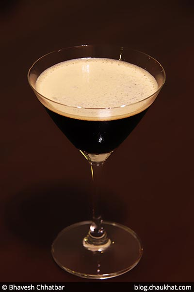 A coffee cocktail at Savya Rasa [Koregaon Park, Pune]