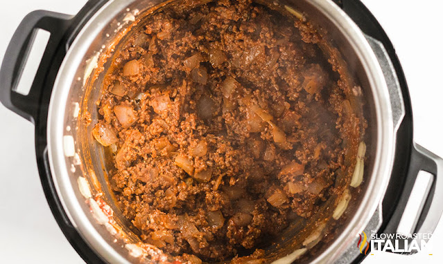 instant pot lasagna soup meat and onions