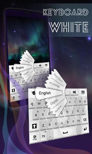 白いキーボードのテーマ