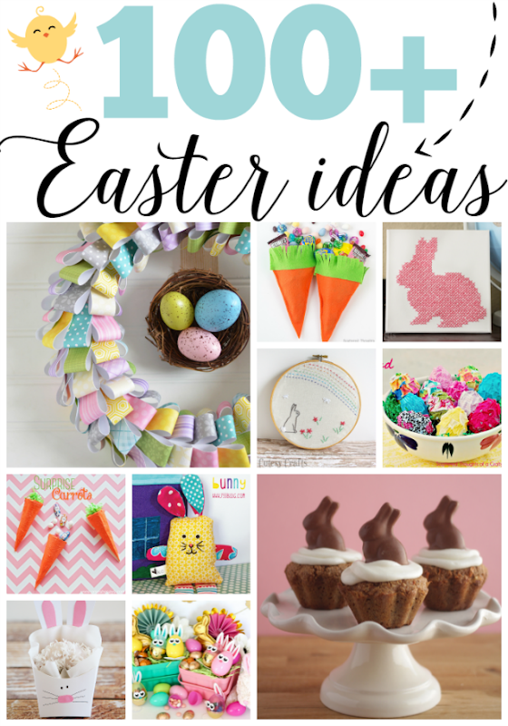 100  Easter Ideas at GingerSnapCrafts.com #Easter #spring