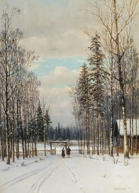 Gavril Kondratenko - Winter In the outskirts 1883
