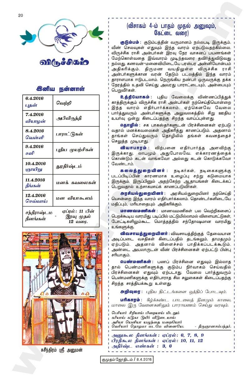Kumudam Jothidam Raasi Palan April 6-12, 2016