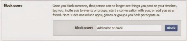 block người dùng facebook