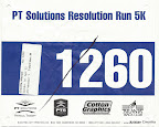 PT Solutions Resolution Run 5K Race Bib - Mike