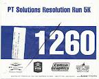PT Solutions Resolution Run 5K Race Bib - Mike