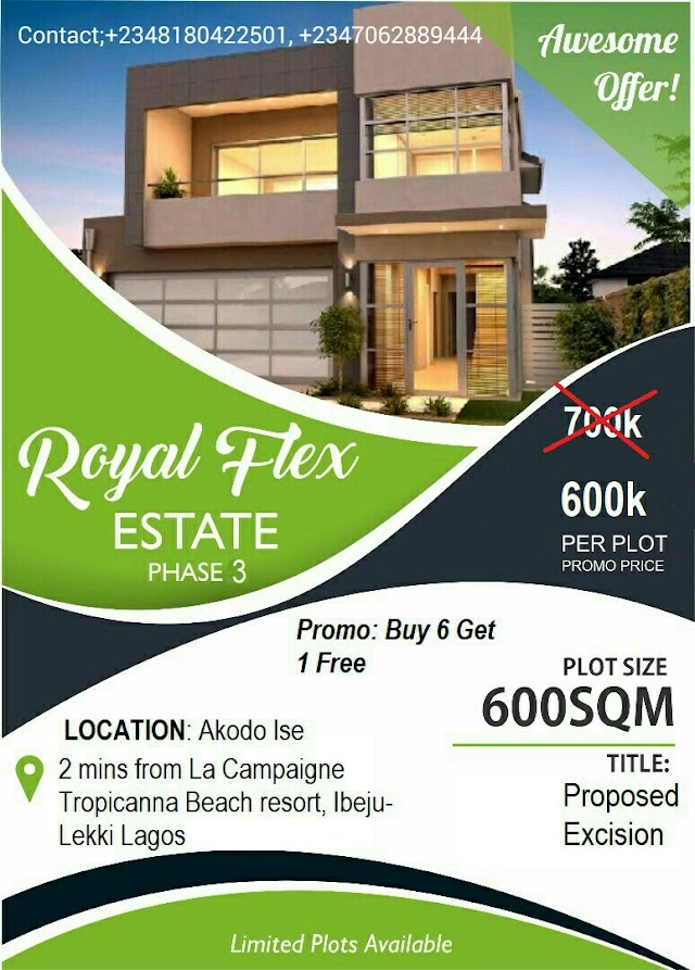 ROYAL FLEX ESTATE PHASE 3, IBEJU LEKKI, LAGOS