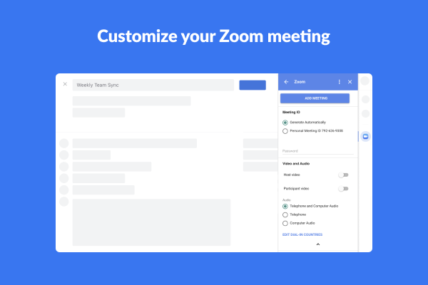 Zoom For Gsuite Google Workspace Marketplace