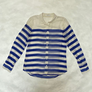 Equipment Striped Silk Blouse