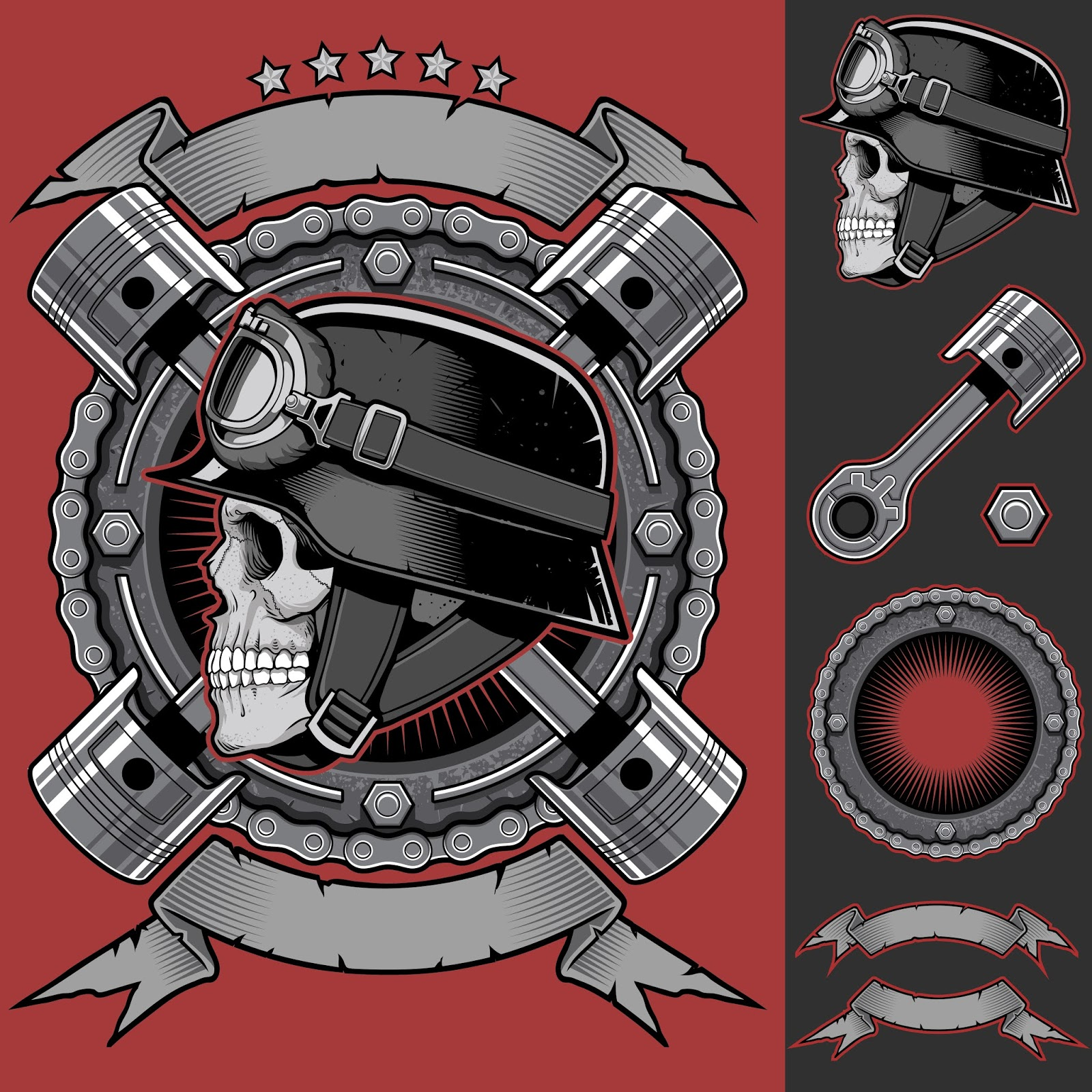 Biker Club Patch Free Download Vector CDR, AI, EPS and PNG Formats