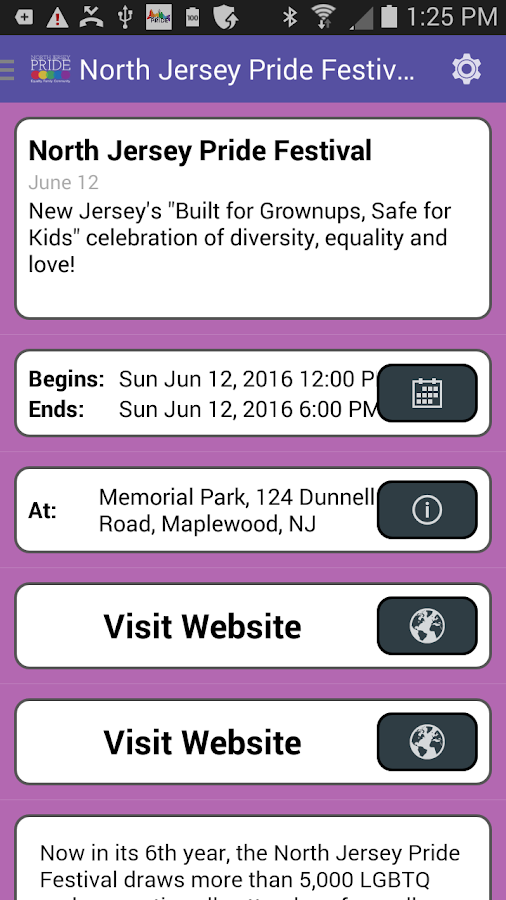 North Jersey Pride- screenshot