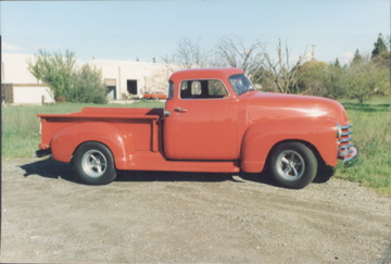 Here is another picture of my Brother's 1948 Chevy pickup, chopped top and 401 nail between the seats!