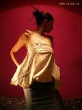 – T A B L E C L O T H REMAKE - top with pocket - ecofrendly design