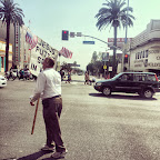 "Hollywood & Highland. Saw the same man the day before. ""Jesus puts 'D' song in my heart."""