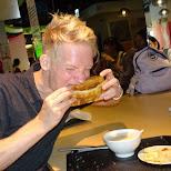 deep fried bread sandwich at Fu Hang Soy Milk in Taipei in Taipei, T'ai-pei county, Taiwan