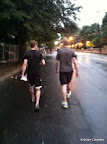 Mike and Matt (my brother-in-law who was in town visiting and ran the race with us) walking in the rain towards MARTA.