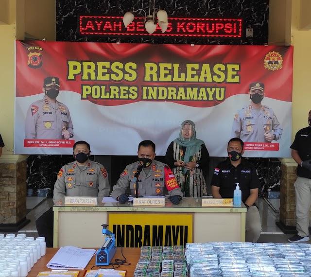 Sebulan, Polres Indramayu Ungkap 8 Kasus dan Tangkap 9 Tersangka