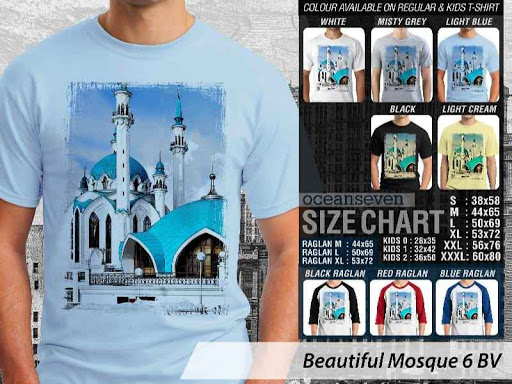 Kaos Muslim Islam Beautiful Mosque 6 distro ocean seven