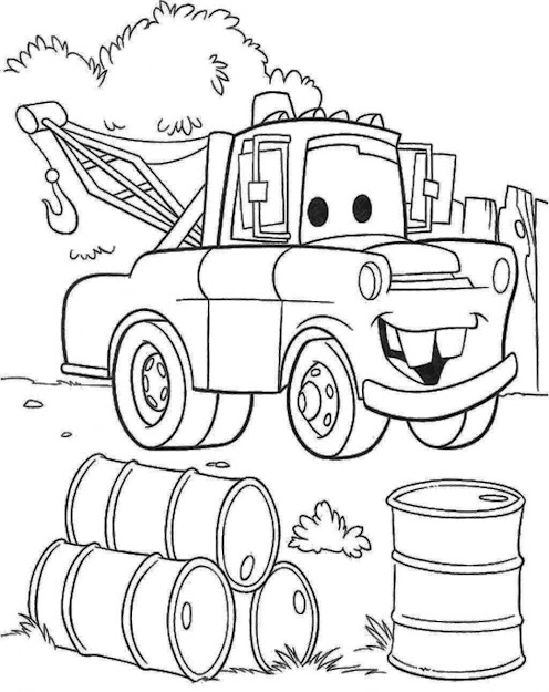 Top Mater Cars Coloring Pages Image Mcqueen Coloring Pages