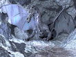 Grey Dragon In Grey Rocks