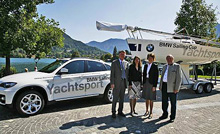 BMW Motorsport/ Yachtsport- sailing J/80 one-design sailboat in Berlin, Germany