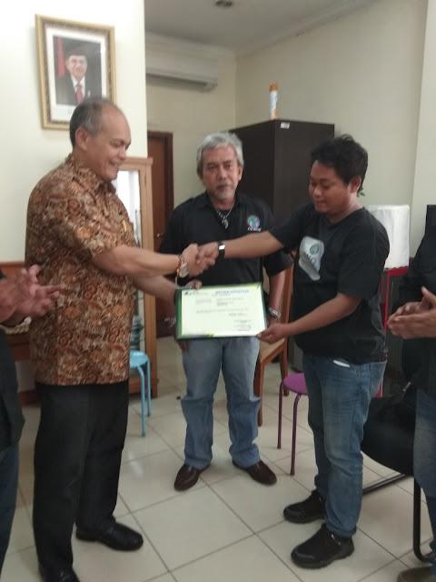 HUT IWO Kab Bekasi , BPJSTK Hadiahi Wartawan sertipikat BPJSTK