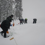 Digging up snow shoes