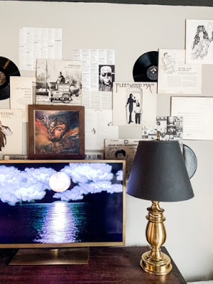gallery wall using records