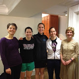Women's 2.5 League winners, UClub.  From left to right: Mimi Coolidge, Anna Robinson, Julia Morgan, Eve Waterfall, and Antoinette Russell.