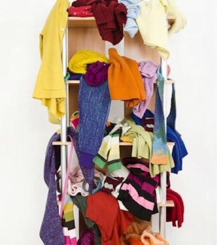 Orden de armario,percha de faldas,idea util,orden armario