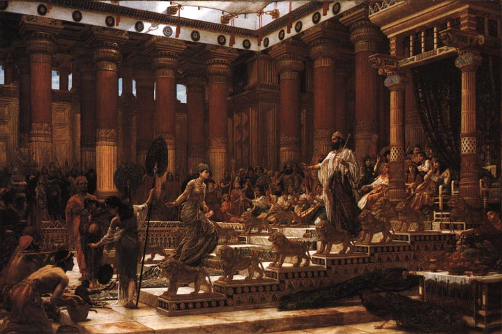 Visit Of Queen Of Sheba To Solomon By Sir Edward John Poynter, King Solomon