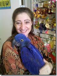 Mary Wine & Blue Bird (close)