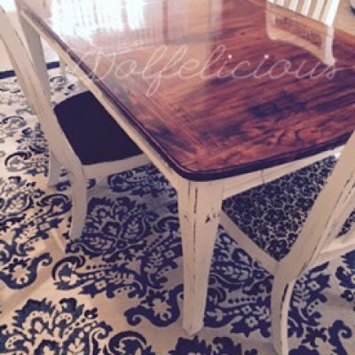 photo of dining room table wolfelicious