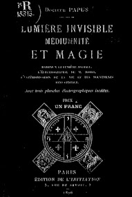 Cover of Papus's Book Lumiere Invisible Mediumnite et Magie (1896,in French)