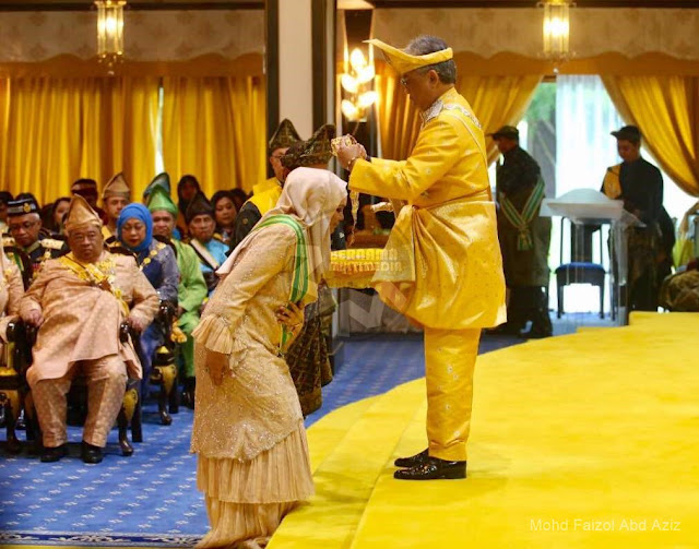 Siti Nurhaliza dikurnia darjah kebesaran Yang Amat Mulia-Peringkat Pertama Sri Sultan Ahmad Shah Pahang yang membawa gelaran Datuk Seri