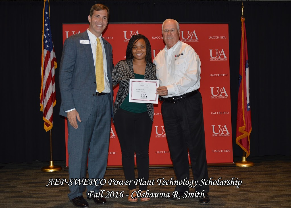 Fall 2016 Scholarship Ceremony - AEP-SWEPCO%2BPower%2BPlant%2BTechnology%2B-%2BClishawna%2BSmith.jpg