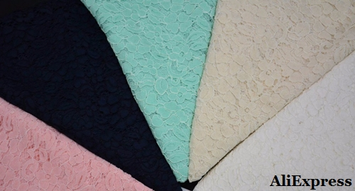 Telas de encaje en poliéster, algodón - viscosa - poliamidas