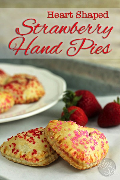 Easy Heart Shaped Strawberry Hand Pies