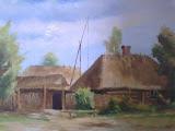 skansen w Kuligowie, olej, płótno, 40x50 cm