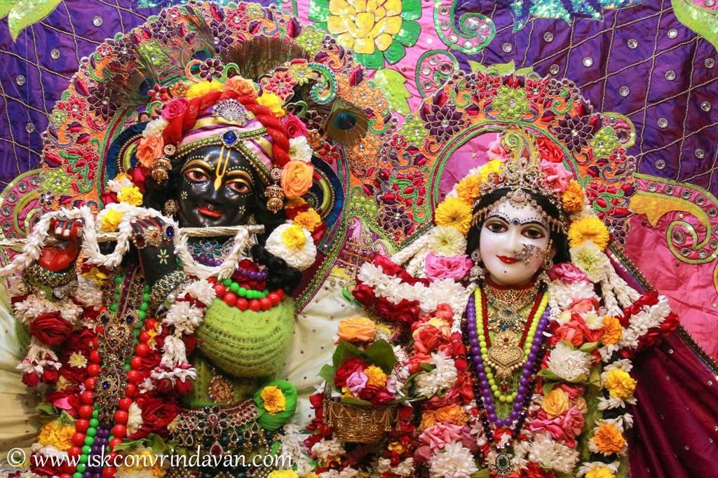 ISKCON Vrindavan Sringar Deity Darshan 14 Jan 2016 (5)