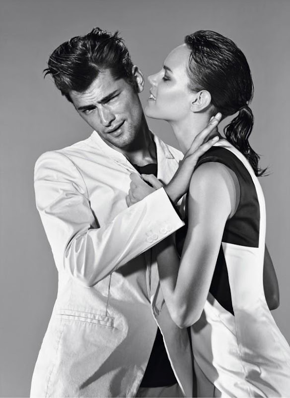 Sean O'Pry @ VNY + Freja Beha Erichsen @ IMG by Alexei Hay for Hugo by Hugo Boss S/S 2012 campaign.