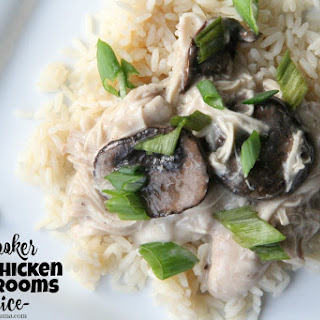 Slow Cooker Ranch Chicken & Mushrooms Over Rice