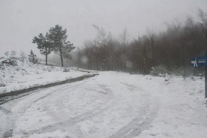Fotos - Serra das Meadas com neve