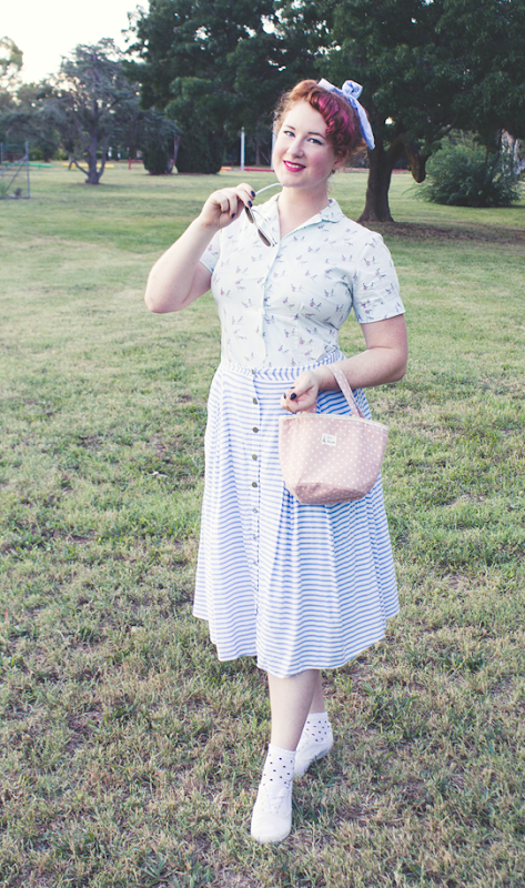 Summer casual vintage 1950s style | Lavender & Twill