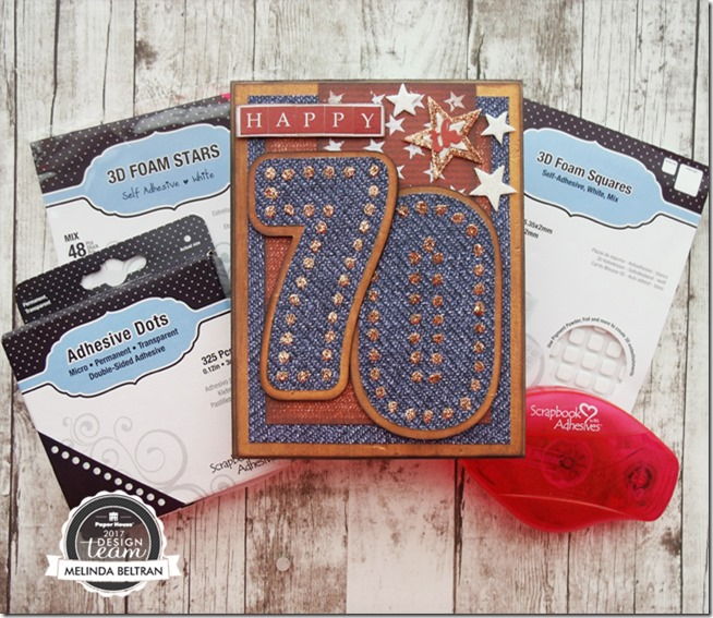 3L Scrapbook Adhesive Number Card Glue Dots Blog Hop Project