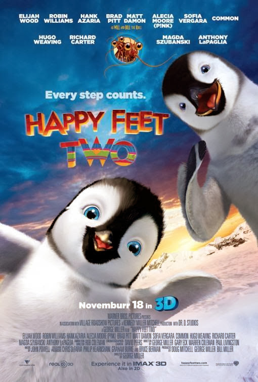 Poster Of Happy Feet Two (2011) Full Movie Hindi Dubbed Free Download Watch Online At Alldownloads4u.Com