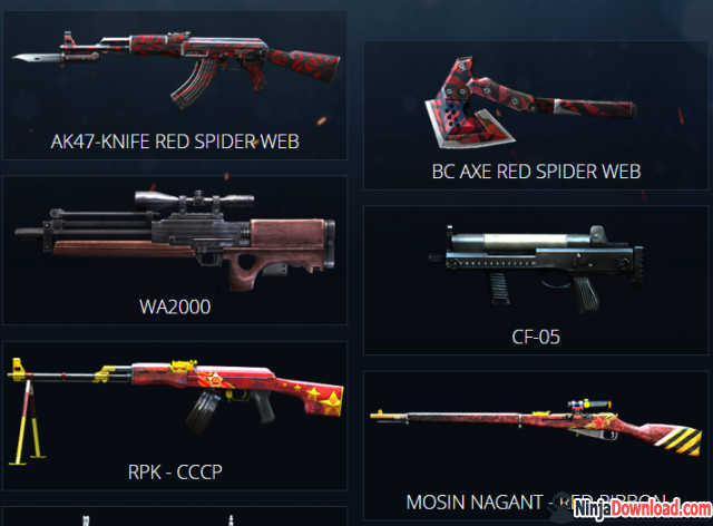 Crossfire game weapons