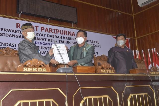 Rapat Paripurna, DPRD Kotabaru Rekomendasi LKPj 2020
