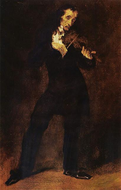 Eugène Delacroix - Portrait Paganini