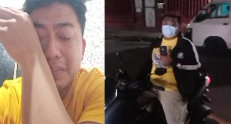 Grab Rider ng Lugaw video, humihingi ng tulong matapos i-harass ng ilang kalalakihan