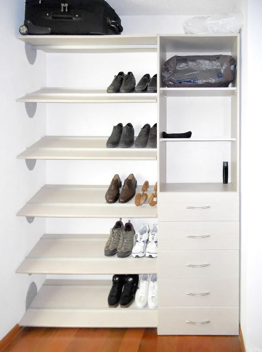 Closets econ micos closets de melamina orbis home for Zapateras modernas para closet